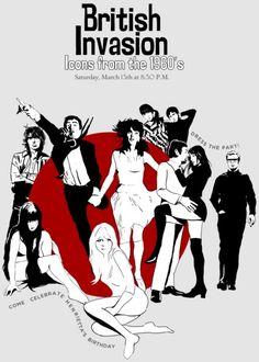 Brilliant Party Theme - British Invasion British Themed Parties, British Party, British Pub, Theme Ideas, Party Themes, Swinging London, Rule Britannia, Curtain Call, British Invasion