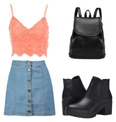 """""""Untitled #178"""" by xpaolacristinax ❤ liked on Polyvore featuring Boohoo, Jane Norman and Steve Madden"""