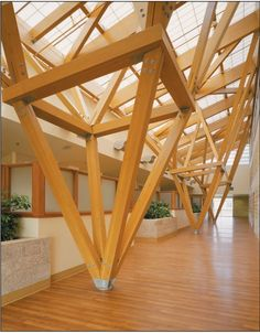 The Influence of Design and Architecture on Health Timber Architecture, Timber Buildings, Architecture Details, Bamboo Structure, Timber Structure, Wood Columns, Wood Detail, Roof Design, Wood Construction