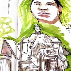 A few sketchbook doodles whilst watching Simon Reeve's 'This World' documentary about coffee producing in Vietnam.