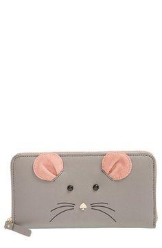 kate spade new york 'cat's meow - lacey' leather wallet Kate Spade Handbags, Kate Spade Wallet, Diy Bags Purses, Unique Purses, Pencil Bags, Little Bag, Fashion Handbags, Clutch Wallet, Wallets For Women