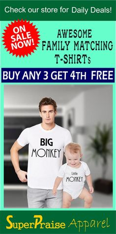 f9d41d1e Father Son Shirts Daddy Daughter Shirt Dad Son shirts Big Monkey Little  Monkey Funny Slogan Fathers Daddy Dad Son Family Matching T shirts
