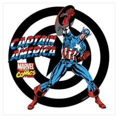 Captain America Power Wall Art Poster