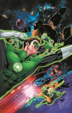 capa variante em comemoração dos 75 anos de lanterna verde