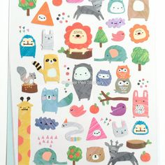 Sticker Kawaii Animal Baby Nursery Cute Pretty Planner Planning Decoration Planner Accessories, Sweet Stationery Party Supply FSEAAP  THIS