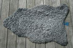 Solid steel gray Gotland Sheeskin.