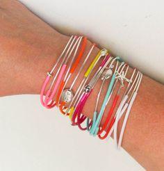 Set of 9 Summer Multicolor Customizable Stacked Bangle Bracelet Charm Bangle Layered Boho Bracelet Handmade  Bohemian Mix And Match Jewelry