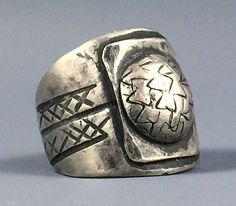 EXTREMELY *Rare* C. 1870 - 1875 1ST PHASE Navajo COIN Silver INGOT Ring Sz 6.25