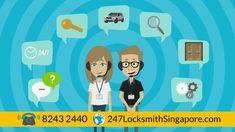 24 Hour Locksmith Singapore - Call +65-8243 2440 24 Hour Locksmith, Locksmith Services, Singapore, I Am Awesome, God, David, Live, Videos, Dios