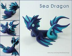 Polymer Clay Sea Water Dragon WIP by ShaidySkyDesign.deviantart.com on @deviantART