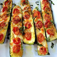 Zucchini Pizza Boats by Alison