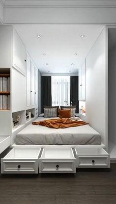 Small Room Design Bedroom, Small House Interior Design, Bedroom Furniture Design, Home Room Design, Home Decor Bedroom, Beautiful Home Designs, Stylish Bedroom, House Rooms, Home Decor Styles