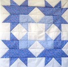 Jackson star quilt block