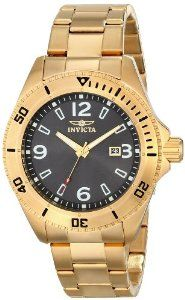Invicta Men's 16331 PRO DIVER Analog Display Japanese Quartz Gold Watch
