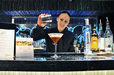 She was our bartender!!   Our brilliant mixologist Natalia at Flemings Mayfair Cocktail Bar making #WorldCup #Cocktails