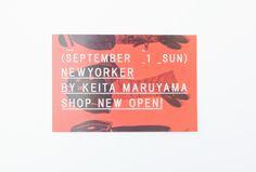NEWYORKER BY KEITA MARUYAMA SHOP OPEN DM - siun