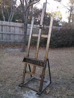 how to build a painting easel