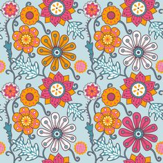 Floral patterns on Behance