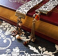 Steampunk Ribbon Bookmark Gears by RandomWish on Etsy, $8.00