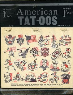 old temporary tattoos
