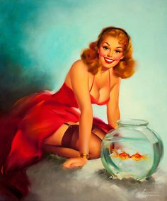 illustration, pin up, vintage