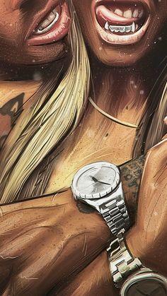 iphone wallpaper art iPhone Wallpapers - Wallpapers for iPhone X, iPhone 8 and iPhone 7 Black Love Art, Black Girl Art, Art Girl, Arte Dope, Dope Art, Bonny Und Clyde, Dope Kunst, Evvi Art, Fille Gangsta