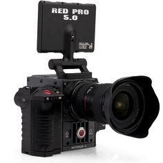 Red Scarlet with DSMC side handle, Canon lens and Red Pro 5.0 LCD touch monitor.