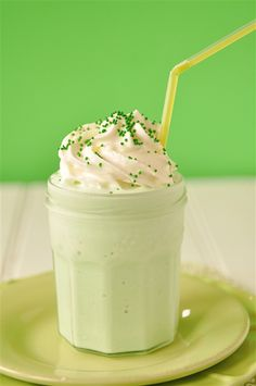 Shamrock Shake  Ingredients        2 C vanilla ice cream      1 C milk      2-3 Tbsp. mint syrup      or 1-2 tsp mint extract and a few drops of green food coloring    Instructions        Place ice cream, milk and syrup in blender and blend. Add more milk or ice cream to create your desired consistency.      You may also adjust the flavoring to your taste.