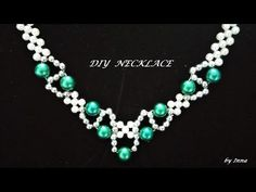 How to make a beaded necklace . Easy pattern - YouTube