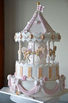 This is my version of a carousel cake.
