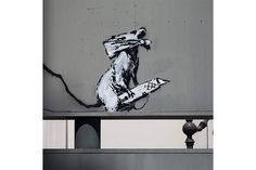 Ready to Hang Banksy Graffiti Canvas Street Art Prints by Banksy Rat, Bansky, Street Art Banksy, Graffiti Art, Urban Art, Sculpture, Drawings, Illustration, Prints