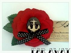 Pin up Psychobilly Rockabilly Sailor Anchor by Farawayhandcrafted, €8.00