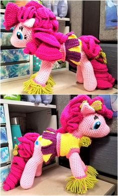 A color attractive pony is looking nice, many yarn colors are utilized to create just one toy and this type of Amigurumi requires special attention because different colors need to be used at the proper place otherwise the person cannot succeed in making the desired toy.