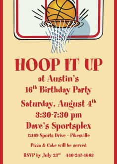 Slam dunk basketball first birthday party basketball party party basketball party invitation wording stopboris Gallery