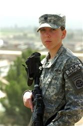 Spc. Monica Brown. Silver Star. 4th Brigade Combat Team, 82nd Airborne Division. War in Afghanistan.