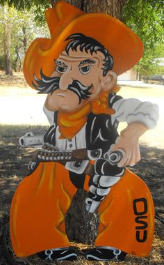 Pistol Pete Yard Art ~ Oklahoma State University Oklahoma State Football 76fac5c1edb5