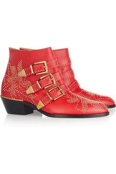 Chloe botas rojas