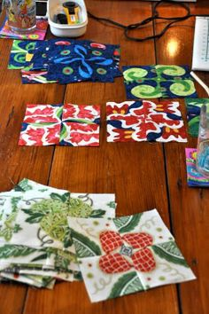 Fun with Barb: Four Patch Posie  Uses squares instead of hexagons, gets similar results!  so much easier