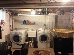 Unfinished Basement Laundry Room Ideas Awesome 12715