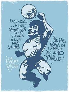 Maradona,imagenes y mas imagenes - Taringa! Football Tattoo, Football Art, Sport Football, Football Players, Maradona Tattoo, Fcb Barcelona, Argentina Football, Soccer Art, Diego Armando