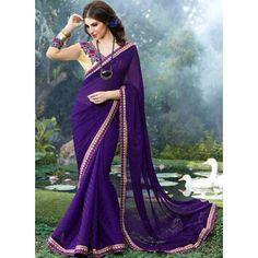 Beautiful Blue Sahiba Saree