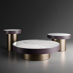 Amode Enoki Round Coffee Tables, Calacatta Marble & Brass Coffee Table To Dining Table, Coffee Desk, Sofa Side Table, Round Coffee Table, Coffee Table Design, Centre Table Design, Center Table, Canopy Bedroom Sets, Contemporary Furniture Stores