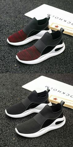 promo code bbca4 f13a3 US 25.48 49% OFFAliexpress.com  Buy Prikol Brand Men Sports Shoes Summer  Slip On Red Burgundy Grey Comfortable Outdoor Tennis Shoes Calcado  Masculino ...