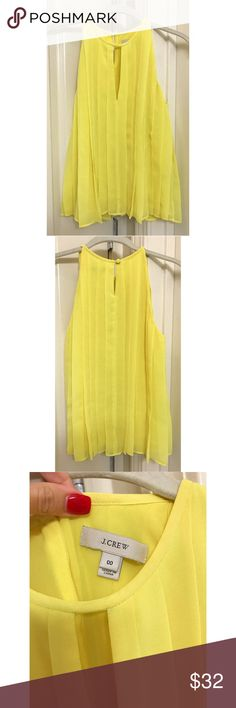 J.Crew Yellow Blouse Walkin' on sunshine!!  This feminine blouse will brighten your mood each time you wear it. J. Crew Tops Blouses