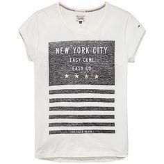 Hilfiger Denim T-Shirt Logan mit Rundhalsausschnitt und Print auf der Vorderseite. Das Logostitching befindet sich auf dem Ärmel.65% Lyocell, 35% Baumwolle...