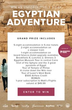 Win 5 nights in a 5 star hotel in Egypt. Dream Trips, Dream Vacations, Oh The Places You'll Go, Places To Visit, Away We Go, Toasters, Fun Adventure, Win A Trip, Look Here