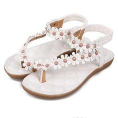 Women's Flat Heel Comfort sandalen met bloem schoenen (meer kleuren) - EUR € 12.37