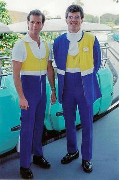 The sexy n' snug People Mover costume. Disneyland Photos, Vintage Disneyland, Disneyland California, Disneyland Trip, Disney Cast, Disney Love, Disney Magic, Disney Parks, Walt Disney World