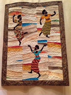 AFRICAN INFLUENCED QUILT.....PC...........Out of Africa quilt, London International Quilt Show