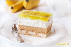 Banana cake cold - recipe without baking - I Love Bake Banana Cream, Cold Meals, Food Cakes, Homemade Cakes, No Bake Cake, Vanilla Cake, Cake Recipes, Grilling, Cheesecake